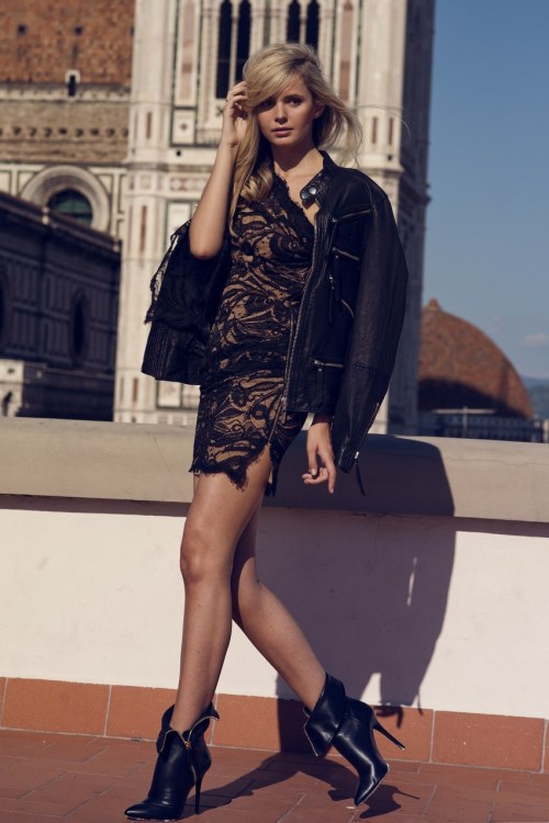 what-do-i-wear:  Emilio Pucci dress, Karl jacket, Giuseppe Zanotti boots (image: tuula)