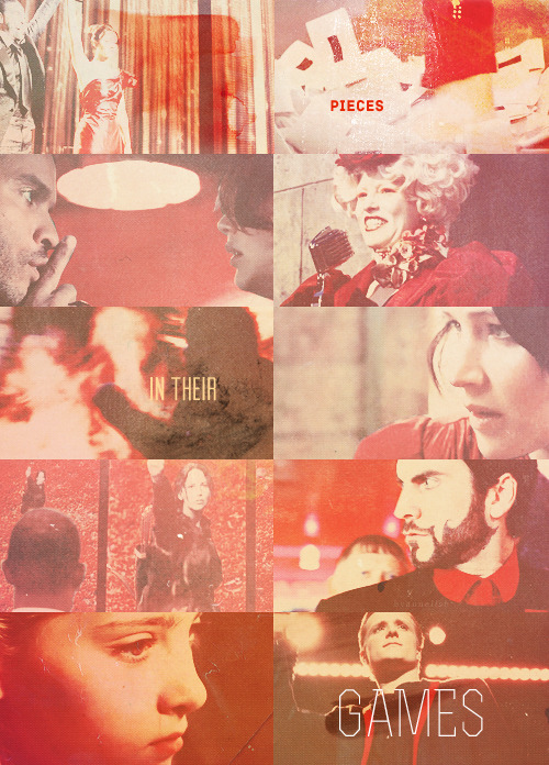 The Hunger Games in red requested by thelionsbride