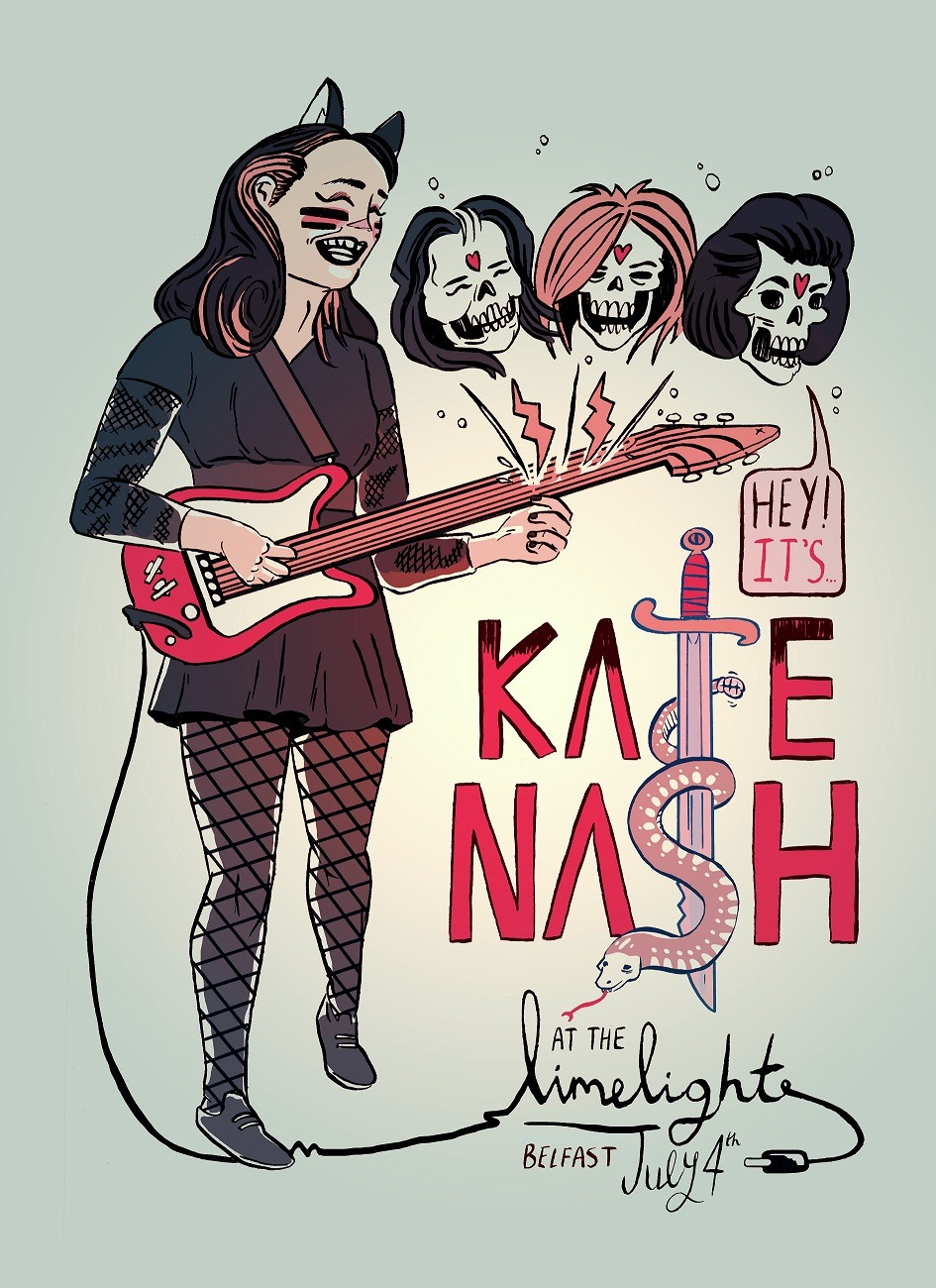 WOAH this is friggin awesome!! 400facts:  Gig poster produced for Kate Nash's upcoming gig in Belfast