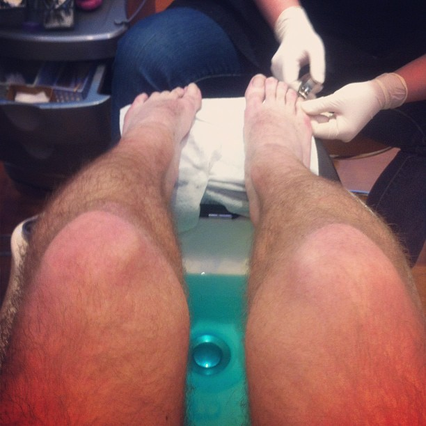 first pedicure ever! thanks @bollare! #summersolstice (Taken with Instagram)