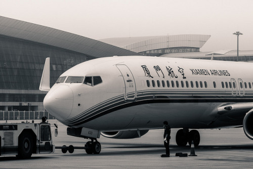B 737 - Xiamen Airlines, ready for take off from Wuhan Tianhe International Airport to an unknow destination on Flickr.