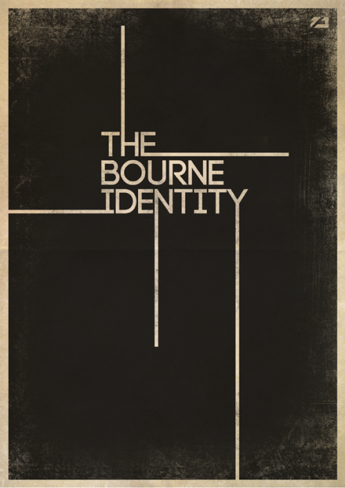 minimalmovieposters:  The Bourne Identity by zoli89