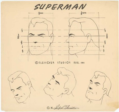 klg19:  Superman character model sheet, Fleischer Studios, 1941.  Found at Cartoon Simple.