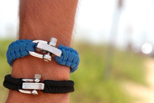 survival-straps:  Survival Straps are sweet and perfect for everything this summer, like hanging out at the beach, hiking, bouldering, going on road trips-anything you would want to do! These straps are built tough, and they look bad to the bone too!   I love that fishtail!