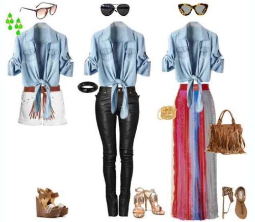 Denim Shirt, Three Ways