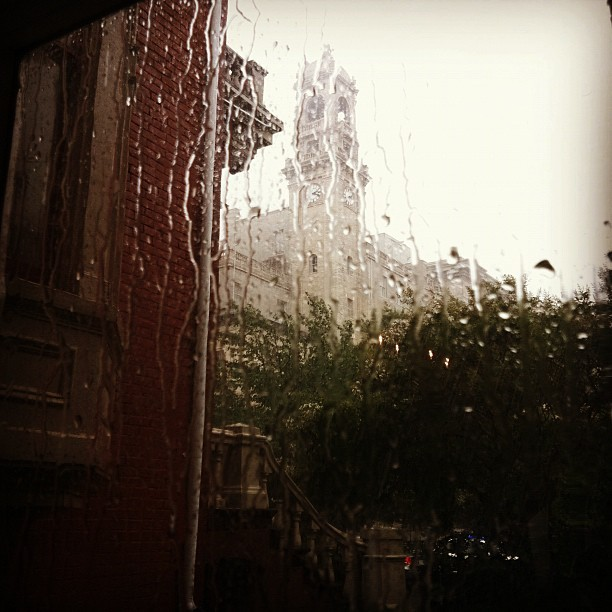 preservationva:  #rva #jeffersonhotel in the rain. View from my office. (Taken with Instagram)