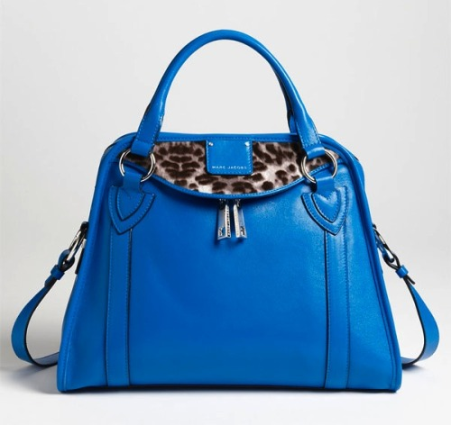 Feeling Marc Jacobs's retro-inspired Wellington bag. Animal-print and cobalt were made for each other, no?