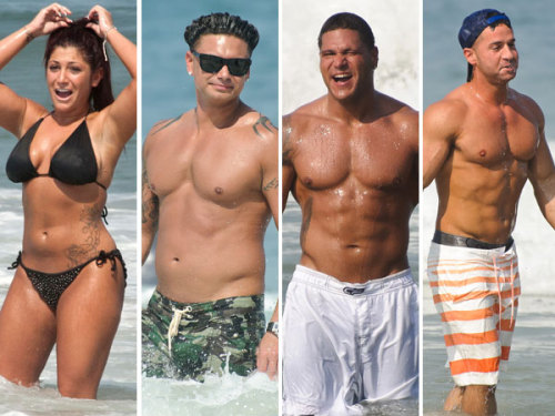 No shortage of GTL here… Jersey Shore hotties duke it out to win the title of hottest beach bod