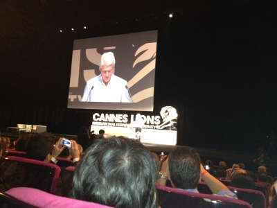 Bill Clinton speaking at #canneslions   He said his favourite ad is the DirectTV spots in the US. Guess he is not as forward thinking when it comes to advertising!  Feel very lucky to have seen him tonight though…Chris and I were the last 2 people to get into the Grand A.