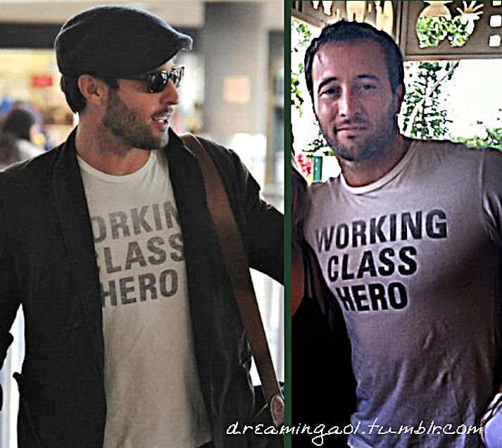 The same shirt … let me say that I love this man ♥