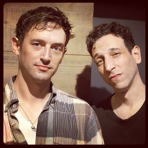 We spotted #Tanlines backstage after their show in Brooklyn last night, where they opened for the Rapture. You can see a shot from the Rapture's set at RollingStone.com. (Taken with Instagram at House of Vans)