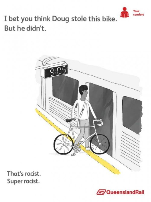 10 Queensland Rail Train Etiquette Posters  Queensland Rail has launched a campaign to encourage people to behave with courtesy and respect. The campaign has captured people's imaginations, but probably not the way Queensland rail originally wanted. Some people have been modifying the original posters to attack more serious train problems like public drunkenness and loud people. Others have given the characters in the posters strange back stories. Here's 10 of the earliest ones to emerge. This tool lets you make your own.
