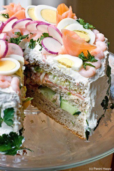 Sandwich Cake.   Share if you want a slice  Like if you don't!