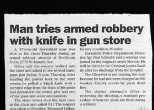 collegehumor:  10 Ridiculous Crime Headlines  This just in: idiocy.