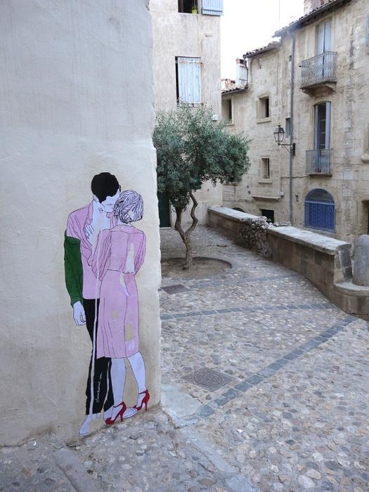 fer1972:  'Lovers' Street Art by Claire Streetart