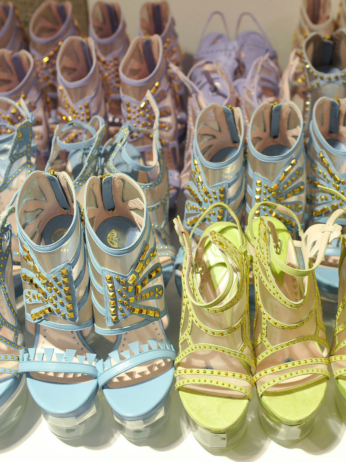 deauthier:  The shoes backstage at Versace s/s 2012.