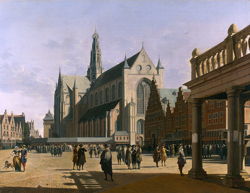 The Market Place and the Grote Kerk at Haarlem Gerrit Berckheyde