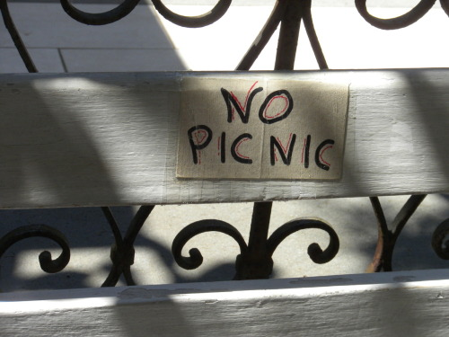 Rule #77 of Italy: No picnic.
