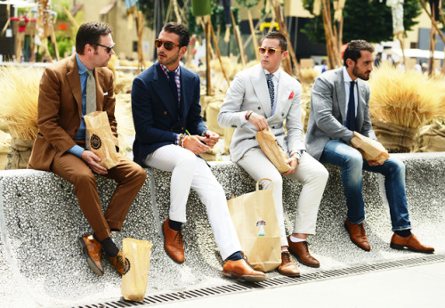loveforfashion:  Tommy Ton's Street Style: Pitti Uomo