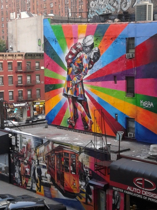 Brand-new graffiti at The High Line, New York