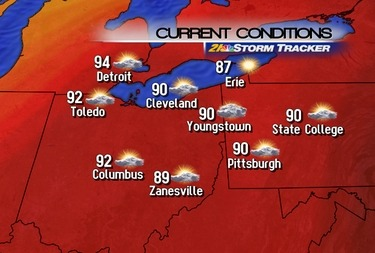 Last day of our heat wave. Mark will have details on our cool down tonight at six on 21 News.