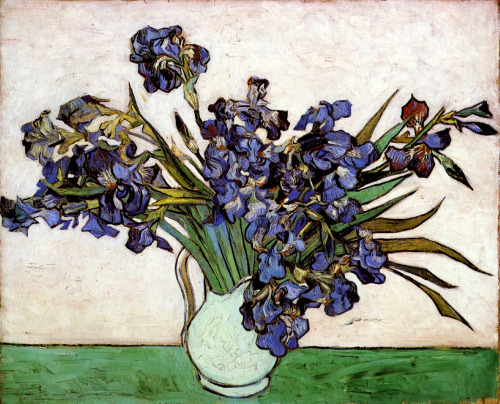 Vase With Irises by Vincent Van Gogh (1890)  felt like it need reposting today in particular