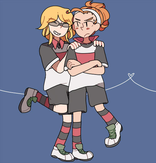amitie-tan:  dina wanted me to draw tengawara girls uh