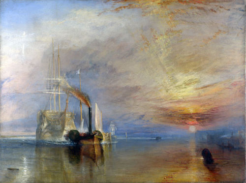 J.M.W. Turner.The Fighting Temeraire.Oil on canvas.