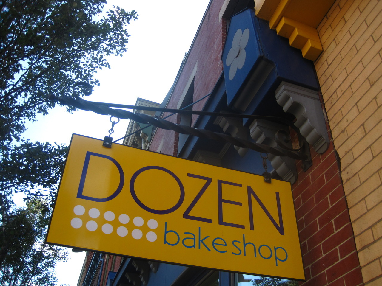 Sign for Dozen Bakery on Butler Street in Lawrenceville.