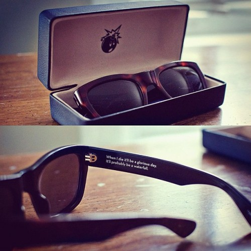 My first pair of shades! By The Hundreds. They're MAHOGANYYY! (Taken with Instagram)