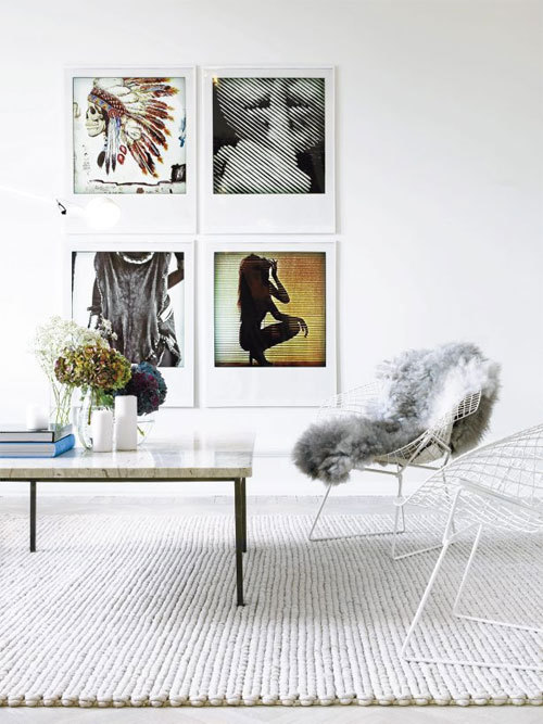 We're feelin' the large Polaroid framed pieces of wall art. Clever.