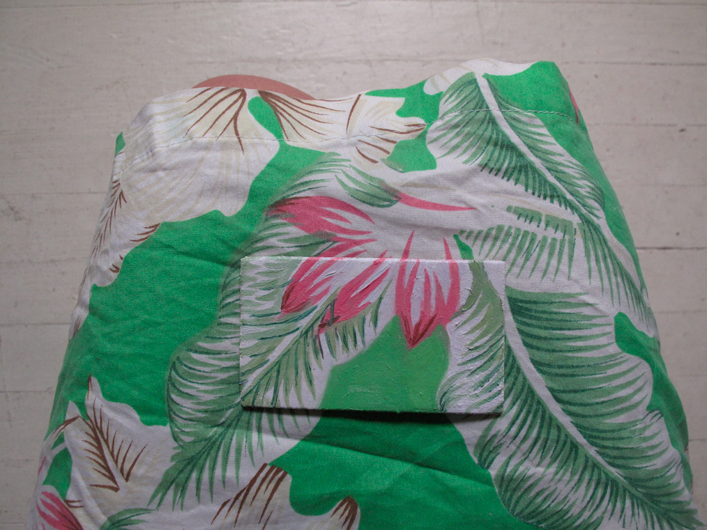 Hidden Painting #6: Green and pink bird of paradise skirt from Fiji