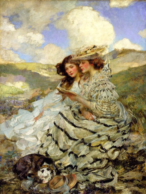 homeengland:  On the Dunes (Lady Shannon and Kittyby James Jebusa Shannon)