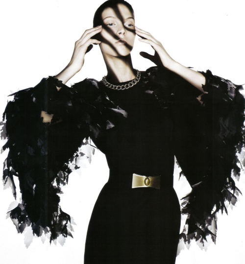 «Lady Austerity» Photographed by David Gabbay for Marie Claire Italia September 2008