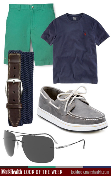 Keep it casual and go back to the basics with this look. Shirt: Polo Ralph LaurenBoat Shoe: SperryBelt: Martin Dingman via NordstromShorts: Lacoste via Bloomingdales:Sunglasses: Silhouette Eyewear