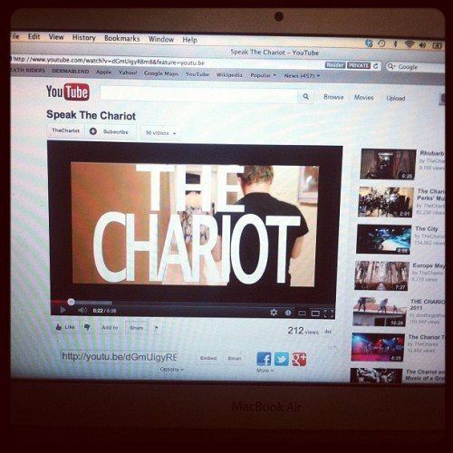 thecruelbloom:  New The Chariot @thechariotjams album update. Lookit. #Onewing #thechariot (Taken with Instagram)