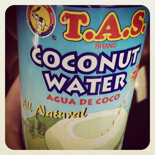 Soooo hot outside! 😡☀🔥 100% thailand coconut water …no frou frou flavors needed. 😉 (Taken with Instagram)