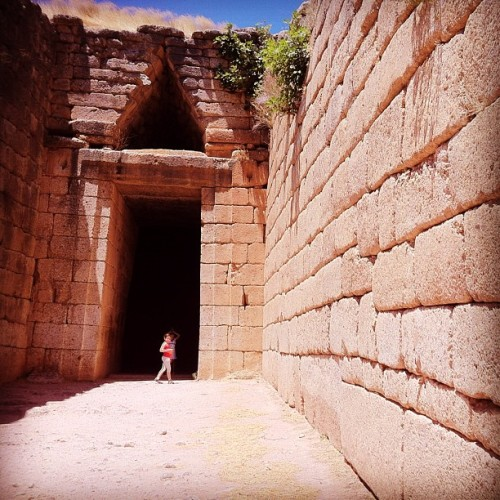 Agamemnon tomb raider at the Treasury of Atreus, Citadel of Mycenae, Greece (Taken with Instagram)