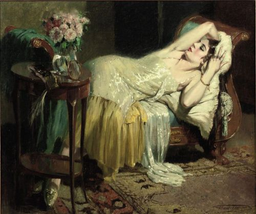 poboh:  After a night out, Henri Joseph Thomas. (1878 - 1972)