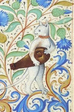 HURDY-GURDY CAT Book of hours, France, ca. 1485-1490. NY, Morgan, MS M.26, fol. 88r
