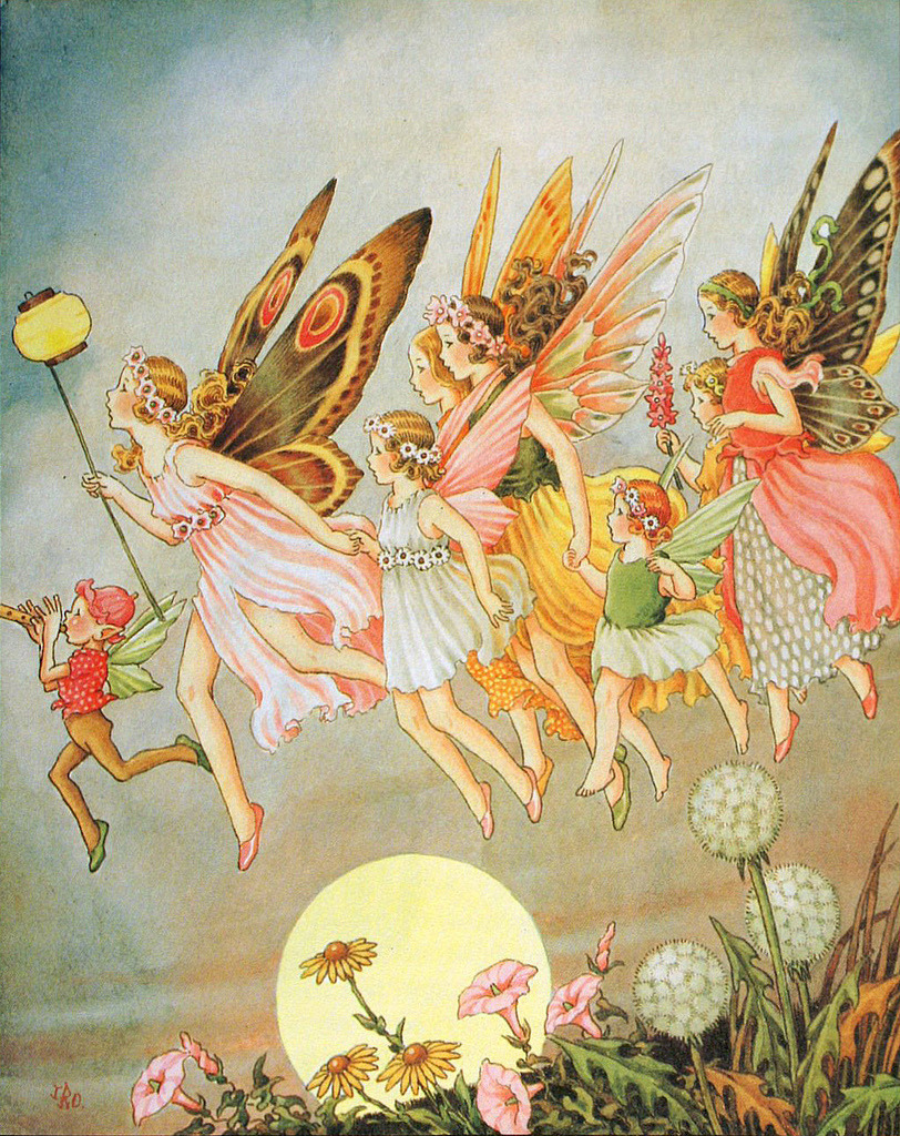 "fayhaven:  Ida Rentoul Outhwaite, ""When the fairies came"" (by sofi01)"