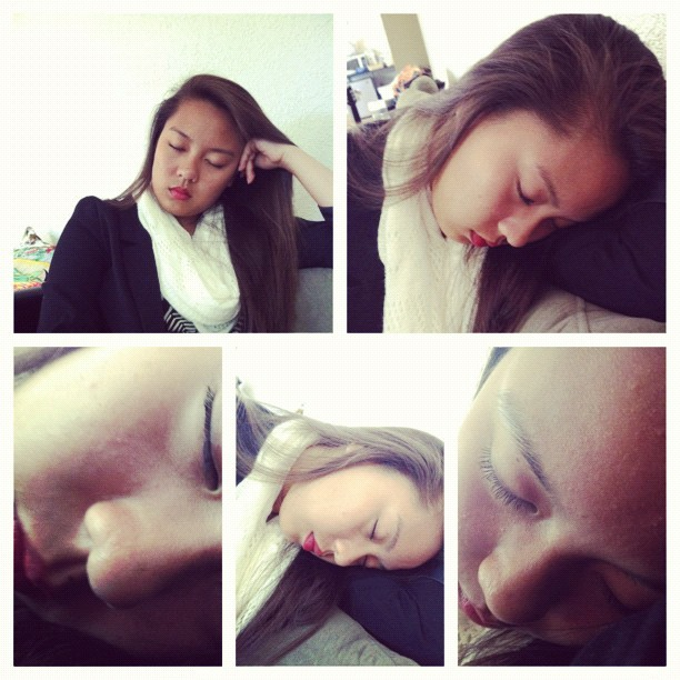 @ohhaaaayrenee fell asleep because @ariclecious is taking too long to pick us up 😜. #summer2012 #newfriends  (Taken with Instagram)