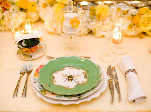 Someone put a LOT of thought - and money - into this adorable place setting