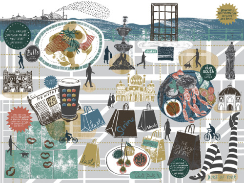 Beautiful Brighton artwork by Alice Pattullo. I'm particularly glad to see The Duke of Yorks and Laste feature. And the starlings. Always the starlings, with not so much as a seagull or stick of rock in sight. Nice visual cliché avoidance.