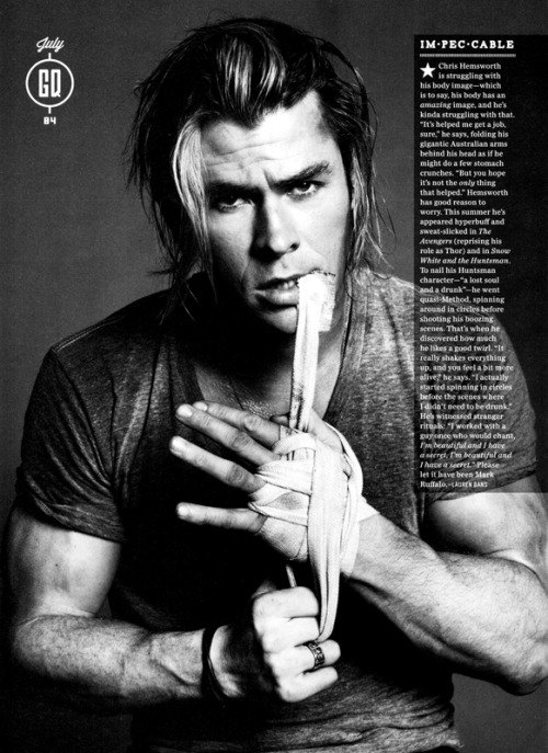 steelmachines:  Chris Hemsworth | GQ (US) July 2012 | ph. Paola Kudacki