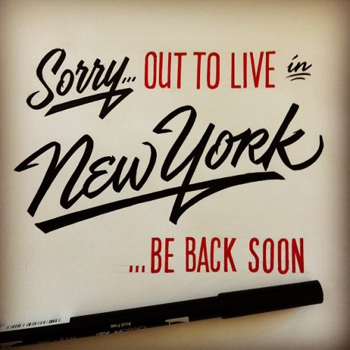 serialthrillerinspiration:  Sorry… out to live in New York …be back soon