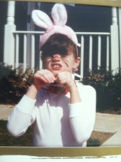 …apparently I also thought I was a bunny…