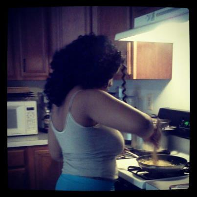 She cook For me