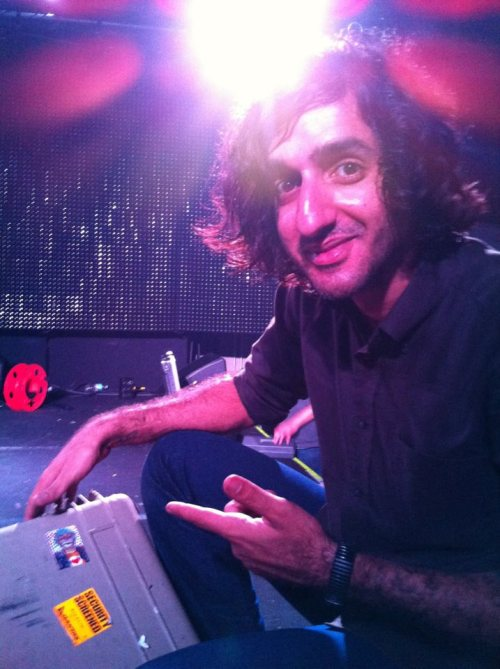 Munaf Rayani guitarist of Explosions in The Sky is reppin' my artwork on his gear and that makes me really happy