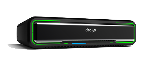 "The Drobo Mini.  Takes 4 x 2.5"" drives and allows for Dual Drive Redundancy, dual Thunderbolt, and one USB 3. Yes Please!"